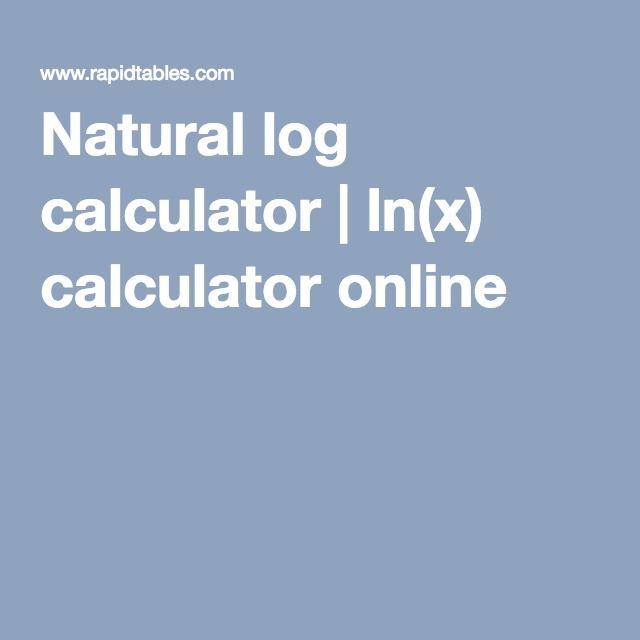 natural log calculator