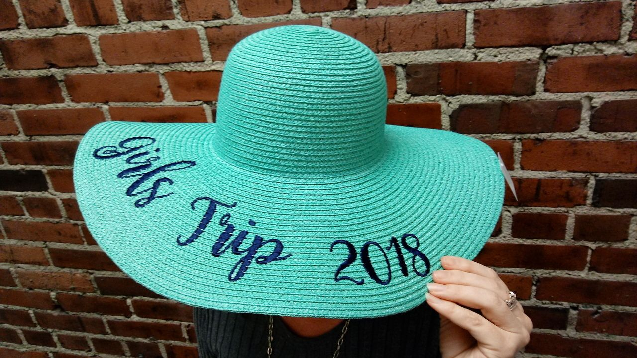 1d2eb60977f Personalized Embroidered Floppy Sun Hat embroidered with your custom name  or phrase. The perfect gift for a girls trip