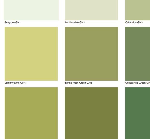 Bedroom Color Pale Muted Green Family