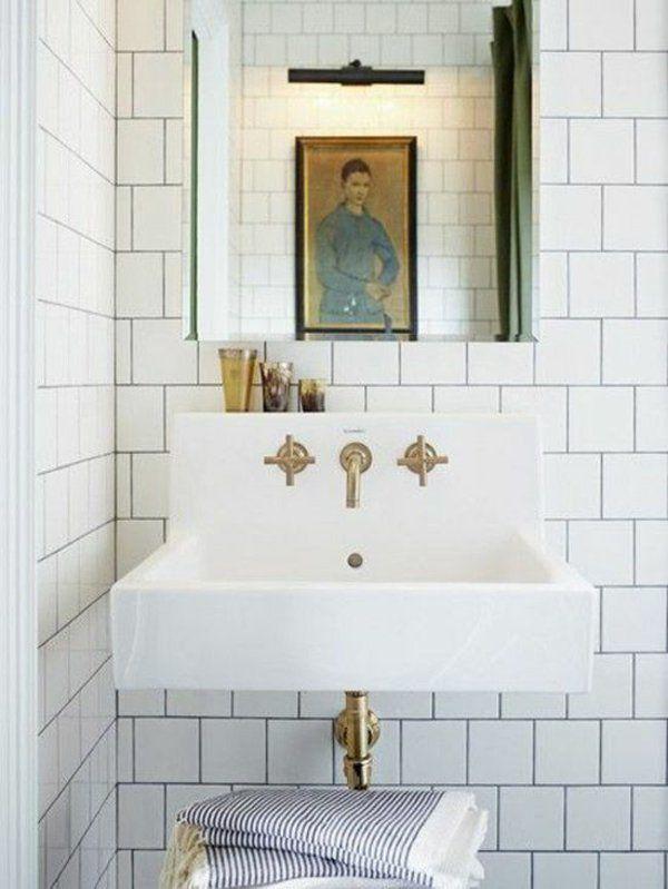 Kleines Bad Fliesen - helle Fliesen lassen Ihr Bad größer