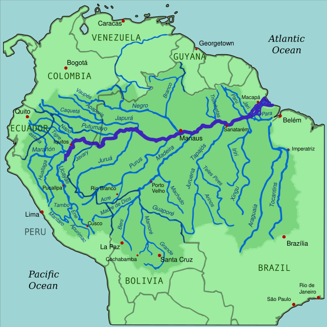 Río Amazonas Rio Amazonas Mapa Río Amazonas Mapa De America Del Sur