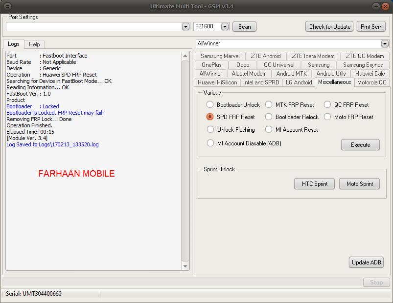 Lava a97 andriod 6 0 spd cpu frp remove done single click by