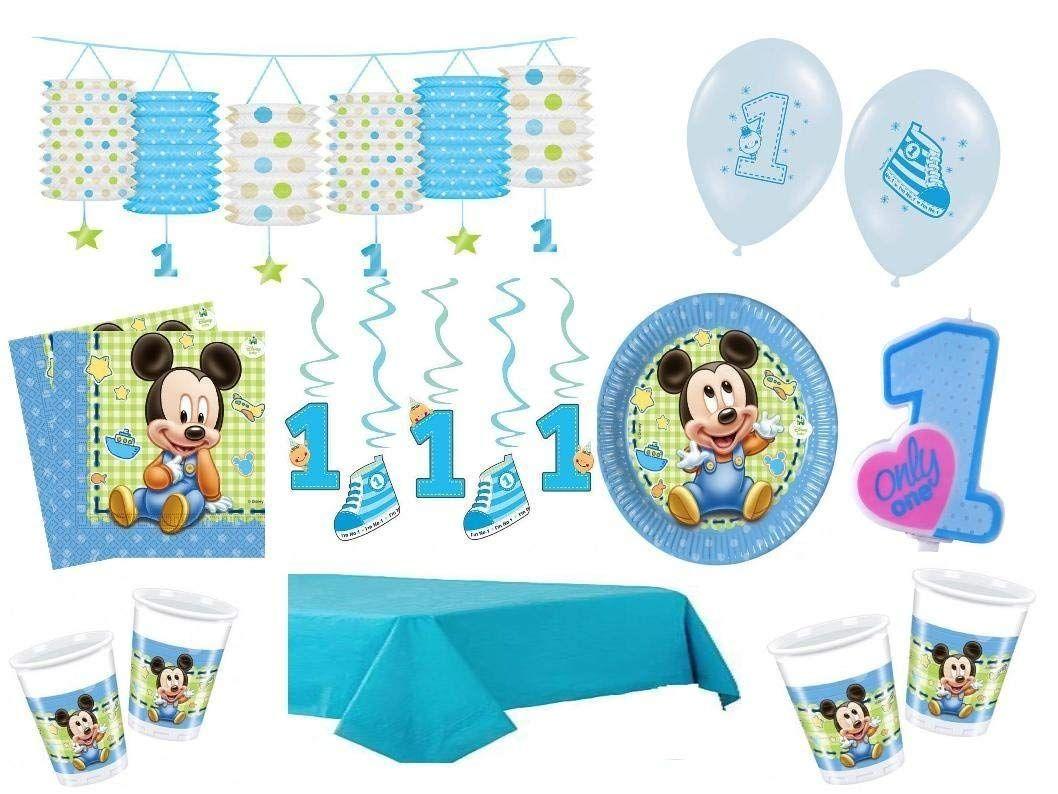 Xxl Party Deko Set 1 Geburtstag Mickey Baby Kindergeburtstag Fur