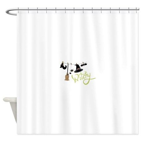 Witchy Shower Curtain By Concordcollections In 2020 Shower Curtain Designer Shower Curtains Shower