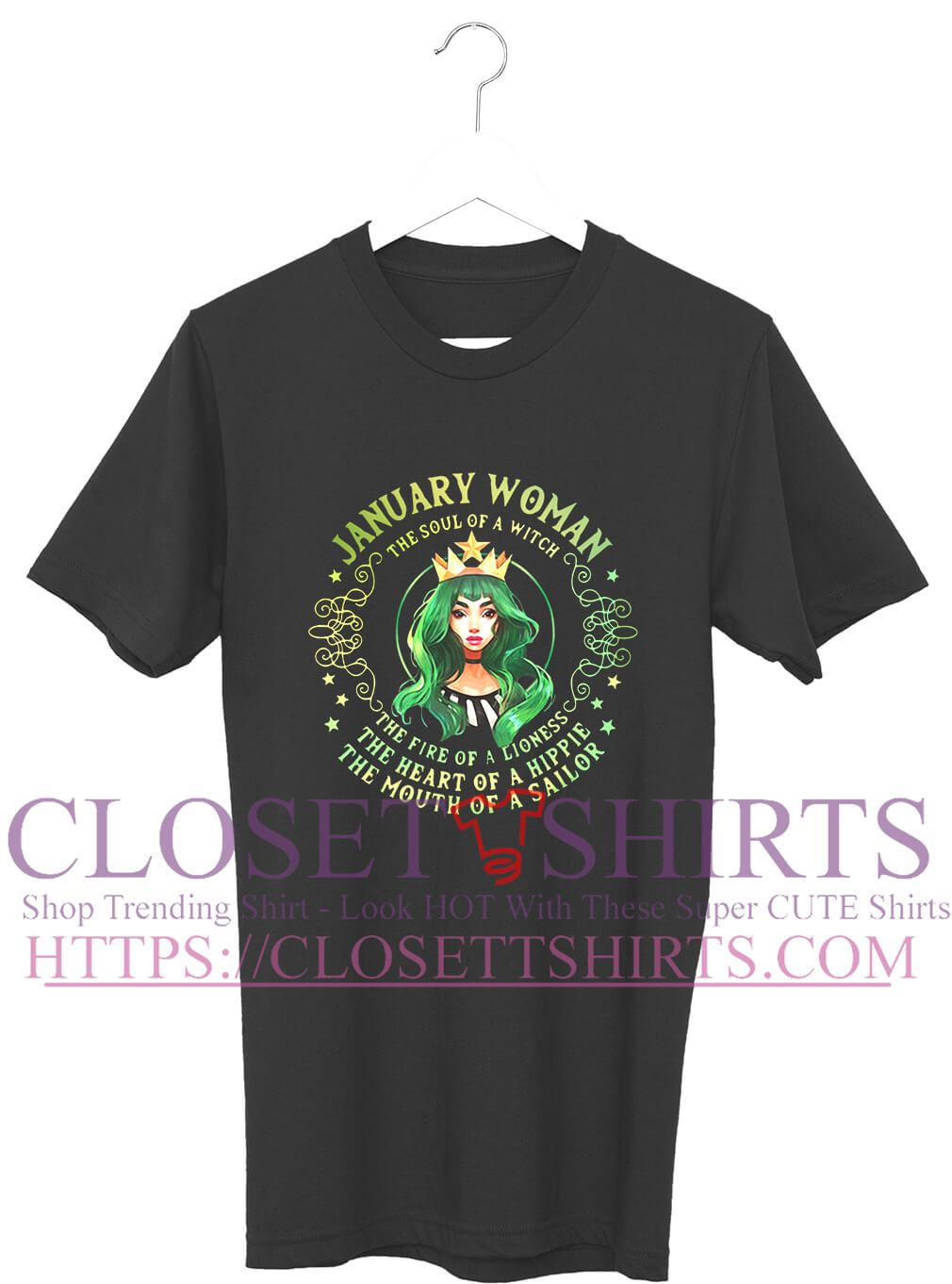 706e2ff7 January woman the soul of a witch the fire of a lioness shirt | Hot ...