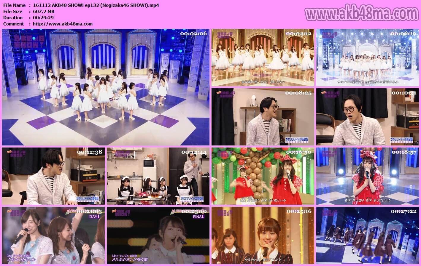 バラエティ番組161112 AKB48 SHOW(Nogizaka46 SHOW!)#132.mp4 (AKB48G ...