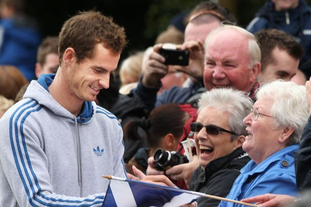 "EMOTIONAL Andy Murray yesterday saluted fans who came to honour him, telling them: ""You've made me very proud to be Scottish.""    The US Open winner and Olympic gold medallist saw his hometown of Dunblane brought to a standstill by 16,000 well-wishers – more than turned out for a visit by the Queen."