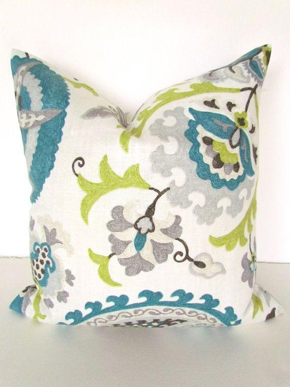 TEAL BLUE PILLOW 12x16 Decorative Throw Pillows 16x20 ...