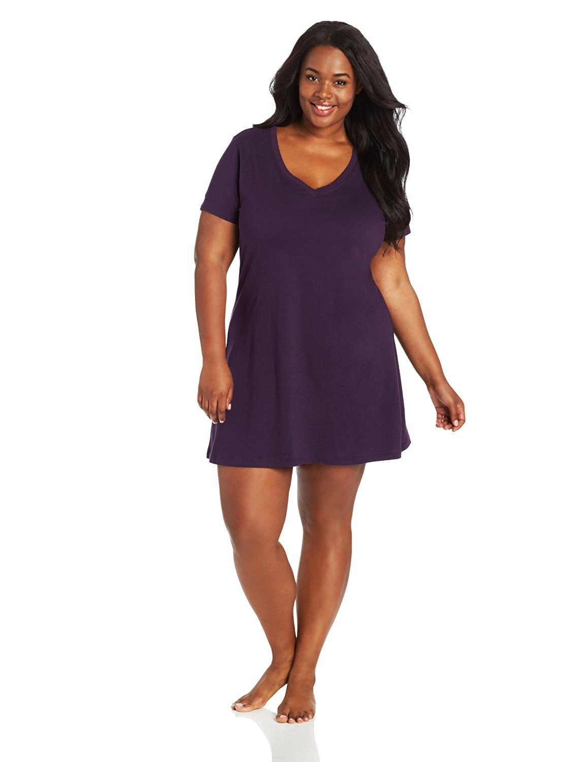 dbd321a5f40 Women s Plus-Size Sleep Shirt - Eggplant - CZ11F2AQOL3 in 2019 ...