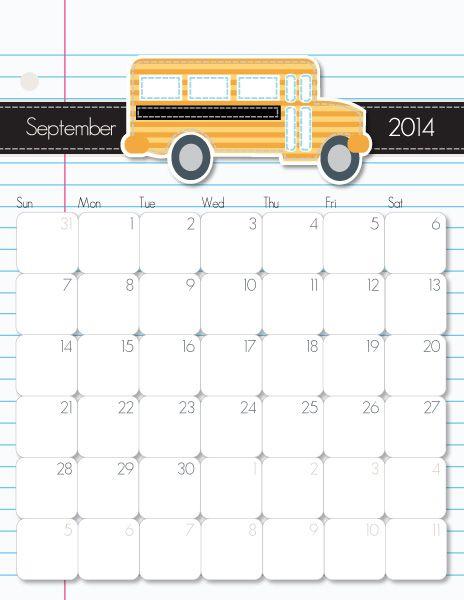 September 2014 Calendar #printable #calendar #printablecalendar - printable calendars