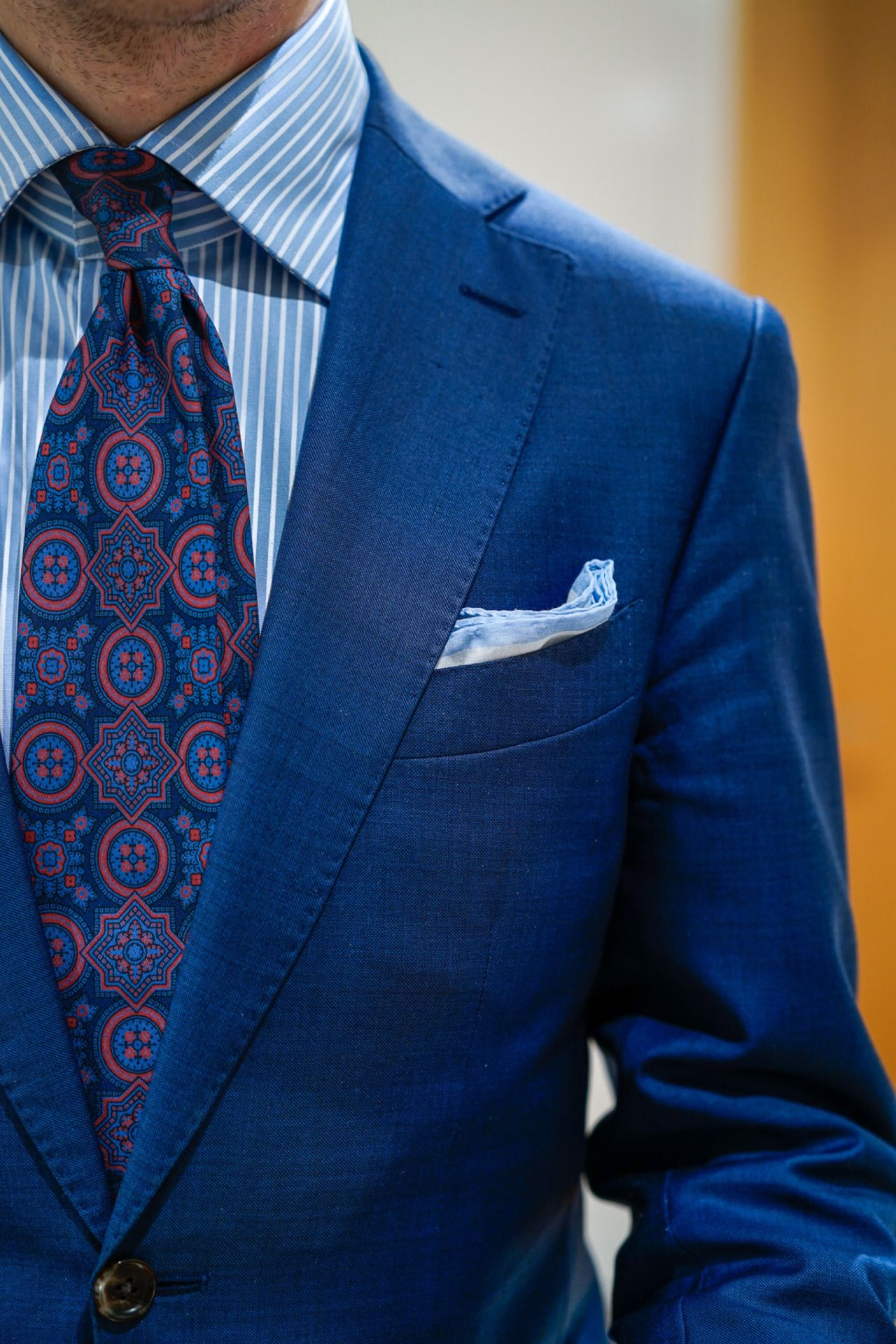 mikolajek:  Pattern tie with shades of blue Blueloafers Blog (www.blueloafers.com)
