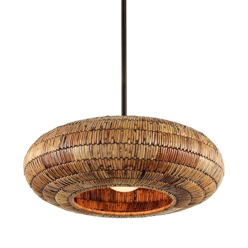 Troy Lighting Breuer 1 Light 24 In Wide Natural Malacca Pendant