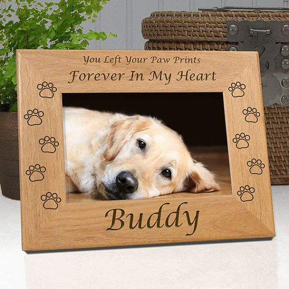 Personalized Memorial Pet Frame You Left Your Paw Prints In My