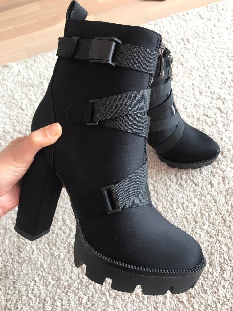 Thick Heel Platform Boots