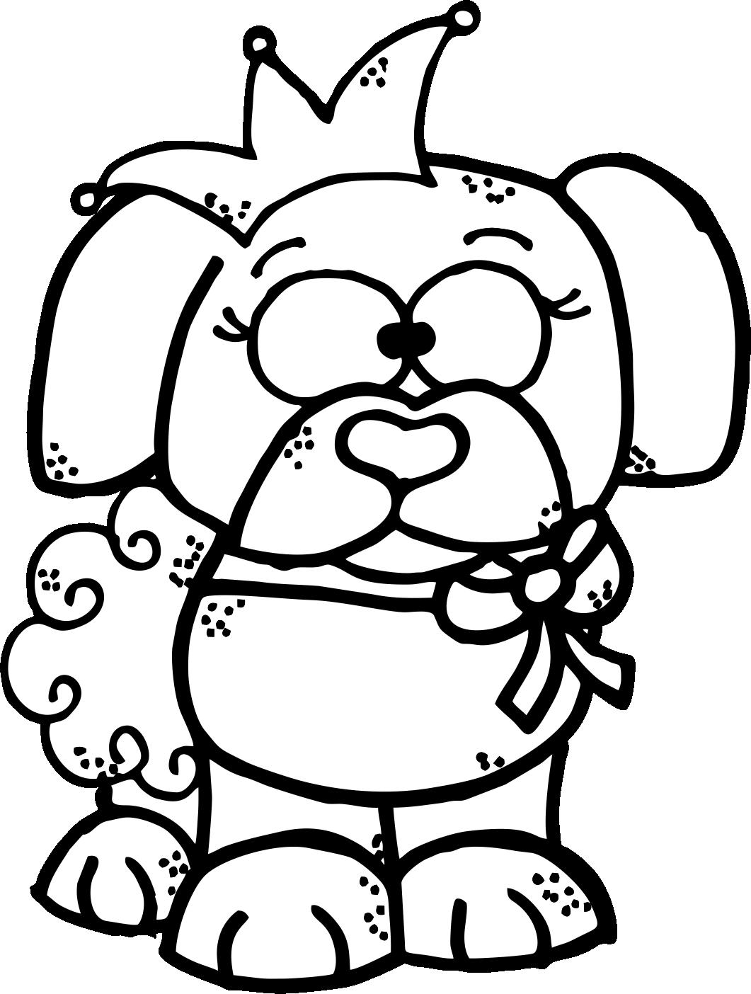 worksheetjunkie free dog clipart  [ 1061 x 1404 Pixel ]