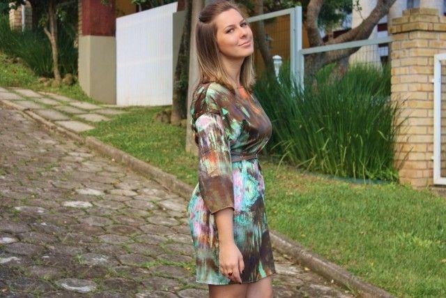 O primeiro look no blog a gente nunca esquece: Vestido Líquido!   Blog 1855
