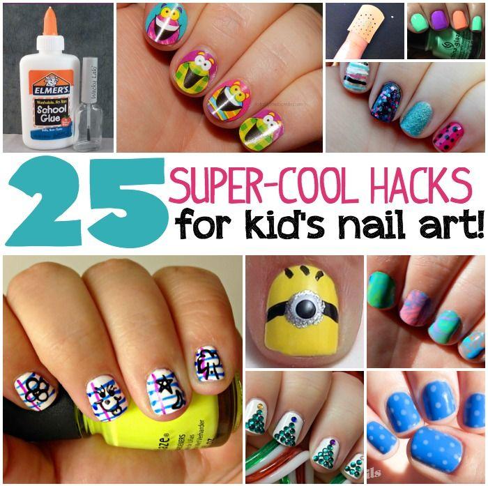 25 Kid\'s Nail Art Hacks | Moras, Diseños de uñas y Comprar