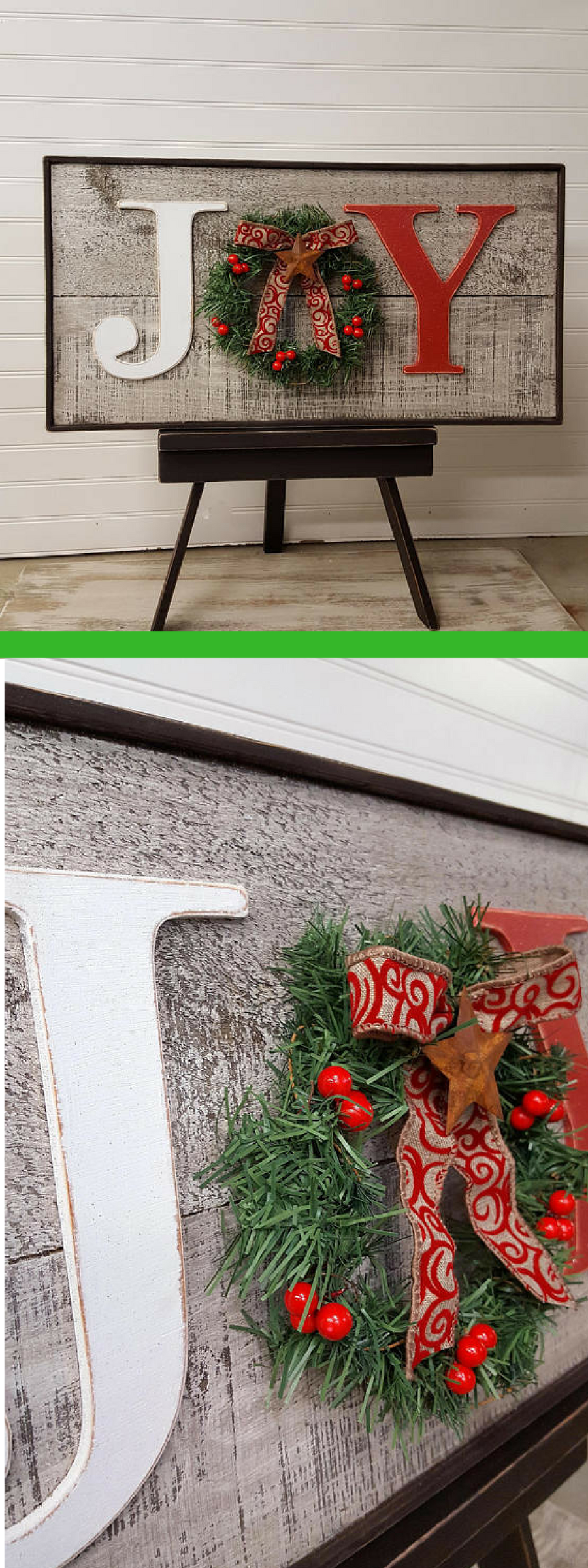 Photo of Rustic Joy sign, Country Christmas decor, Christmas mantle decor, Farmhouse Chri…