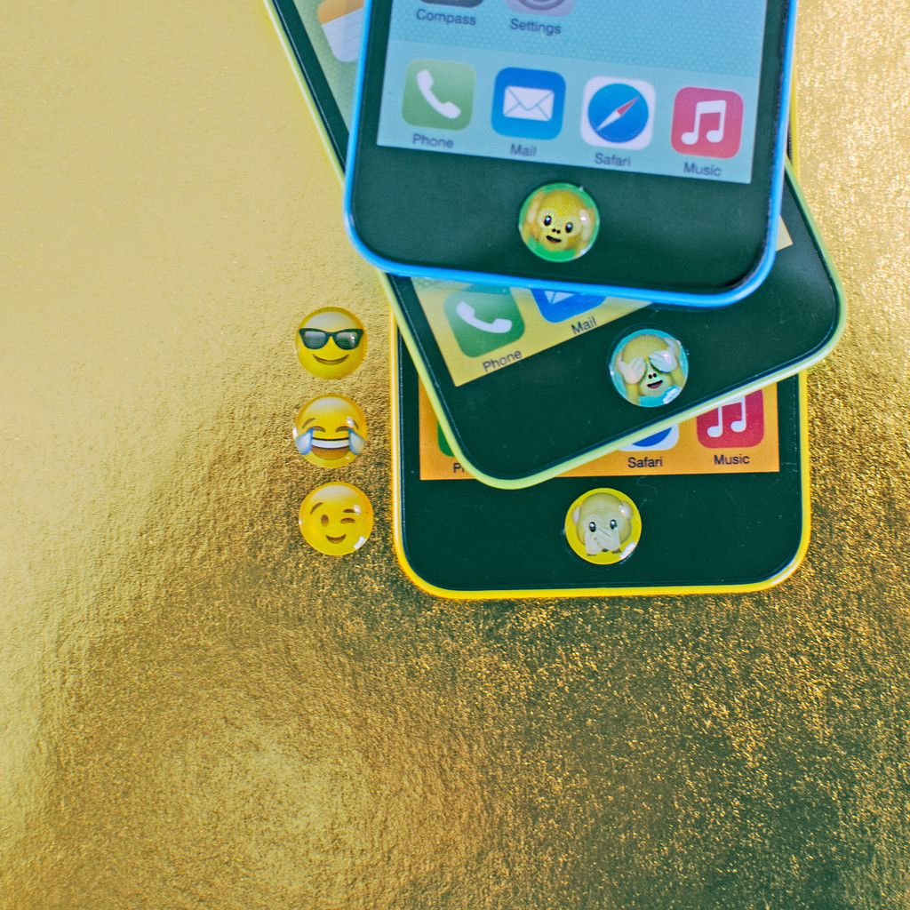 Emoji monkeys home button stickers with images monkey