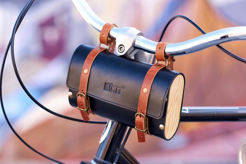 Fahrrad Ledertasche Holzerne Tasche Fahrrad Lenkertasche