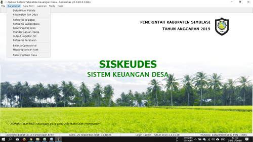 Simulasi Aplikasi Siskeudes 2 0 Desa Sokoyoso Aplikasi Pengelolaan Uang Pemerintah