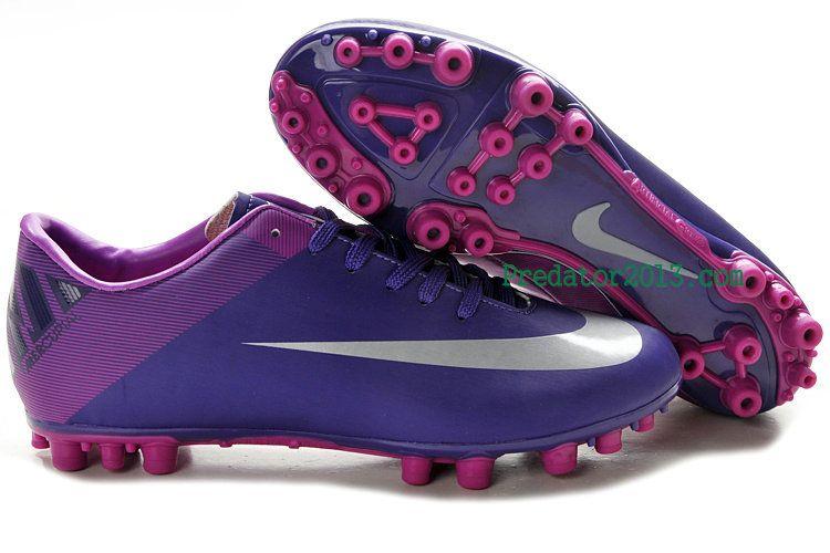 f59f5bd0def4 Nike  Mercurial Victory II AG Soccer Cleats Purple Silver  sports ...