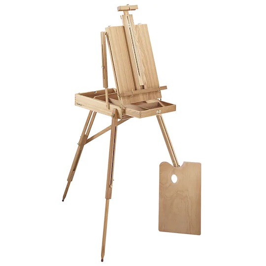 French Sketchbox Easel By Artist S Loft In 2020 Sketch Box Wooden Easel Adjustable Easel