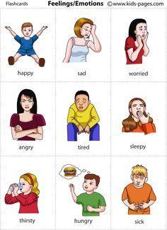 Páginas para niños - Sentimientos / Emociones