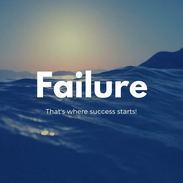 Failure is the start of success. See website for new blog post.