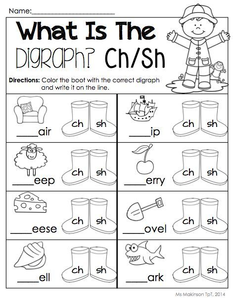 Digraph Worksheet Packet Ch Sh Th Wh Ph Teaching Phonics Phonics Kindergarten Kindergarten Worksheets