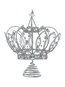 Silver Crown Tree Topper Christmas Tree Topper Crown Silver