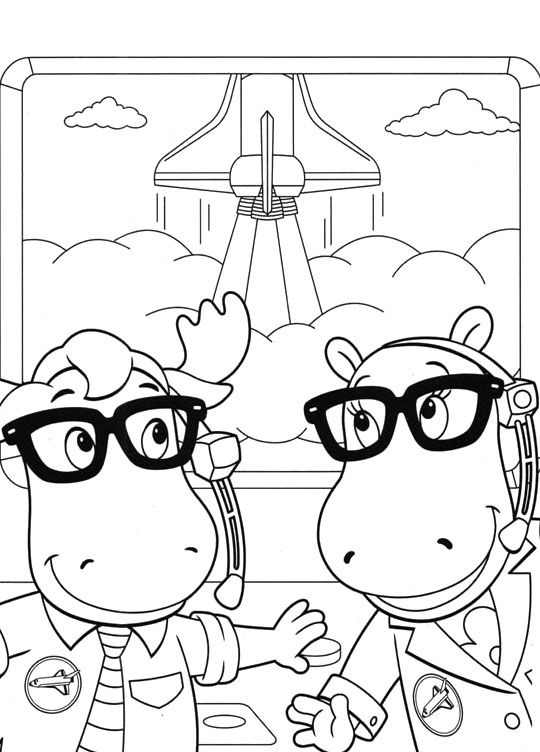Backyardigans Uniqua And Tasha Is Very Happy Coloring Pages Backyardigans Coloring Pages Onlin Nick Jr Coloring Pages Coloring Pages Cartoon Coloring Pages