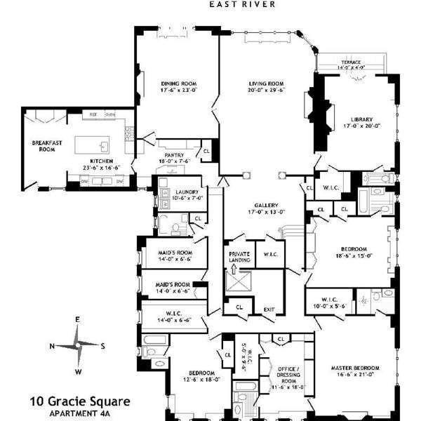 10 Gracie Square 4a Co Op Apartment Sale In Yorkville Manhattan Streeteasy Apartment Floor Plans Floor Plans Yorkville