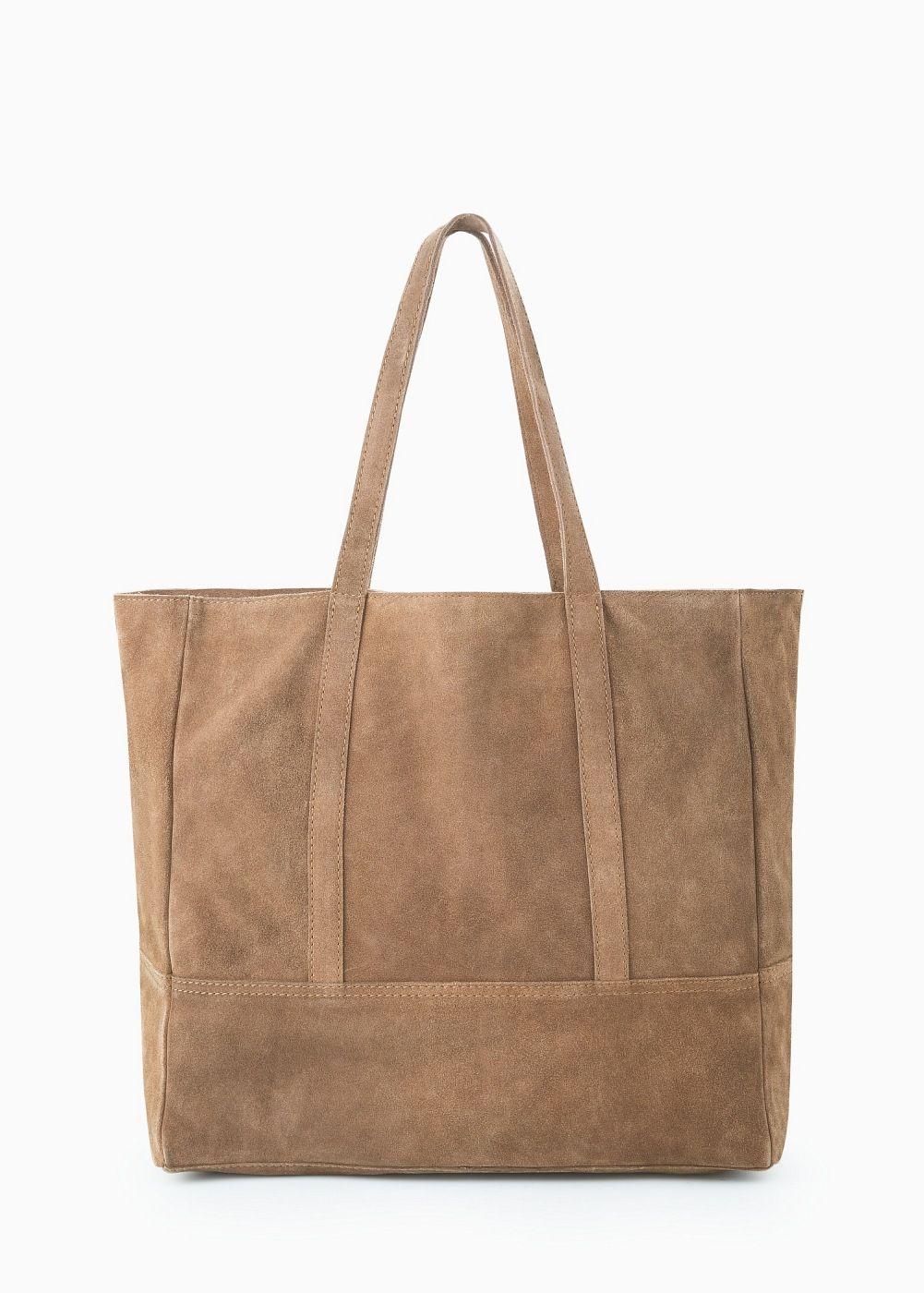 b6bad281bf6a0 Zamszowa torba shopper - Kobieta