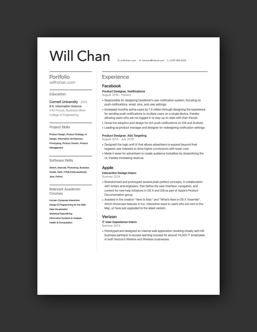 21 Inspiring Ux Designer Resumes And Why They Work Resume Design Resume Examples Resume