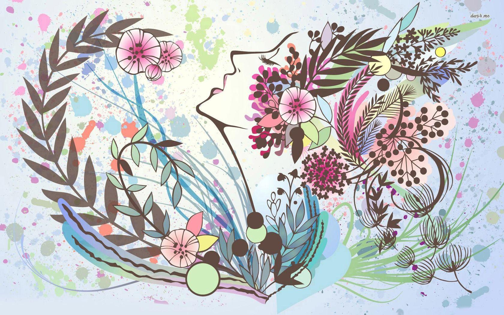 Permalink to Flower Face Wallpaper