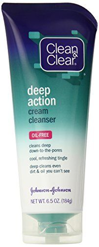Clean Clear Oil Free Deep Action Cream Cleanser 6 5 Ounce Pack