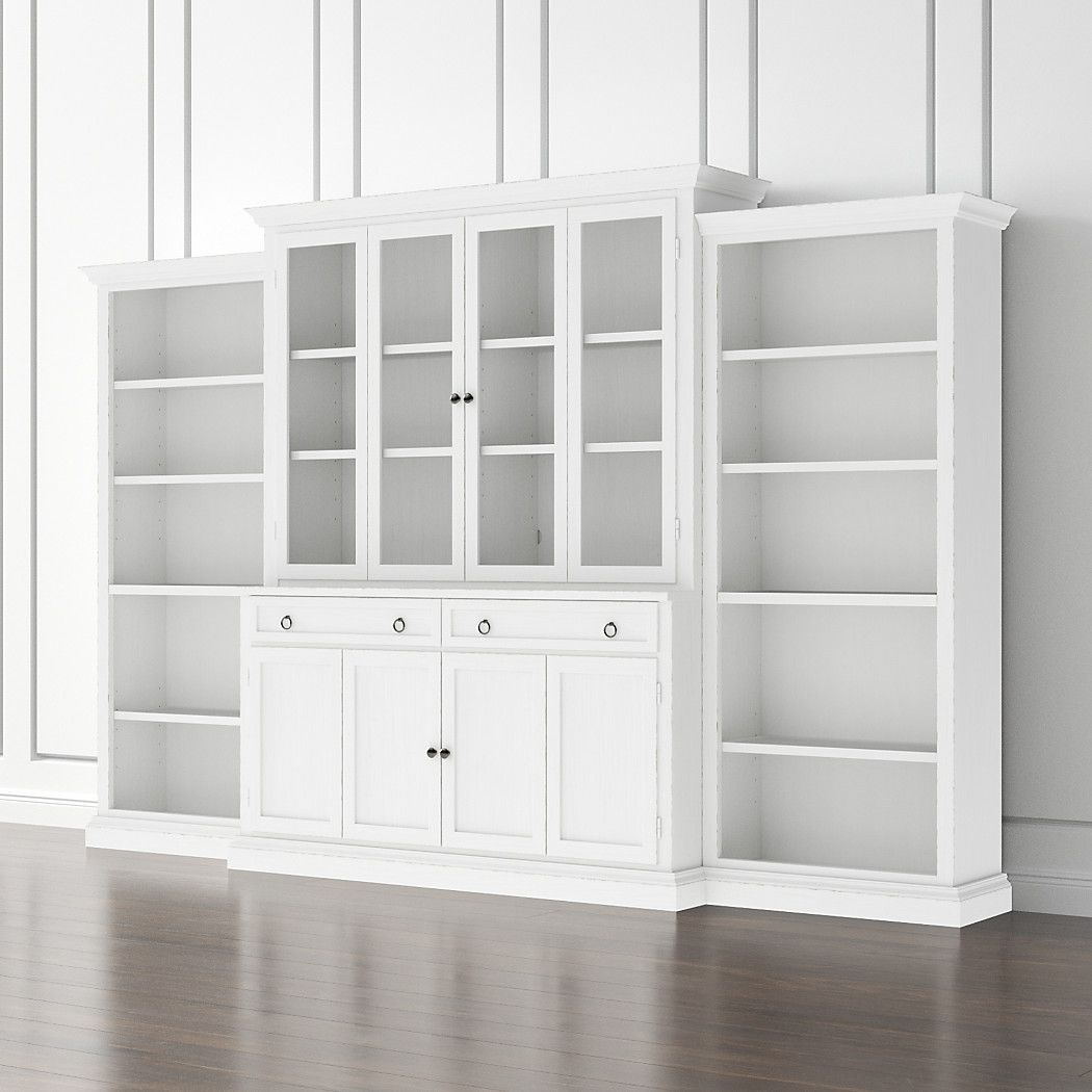 bookcases glass door white unit piece wall with doors pin open cameo