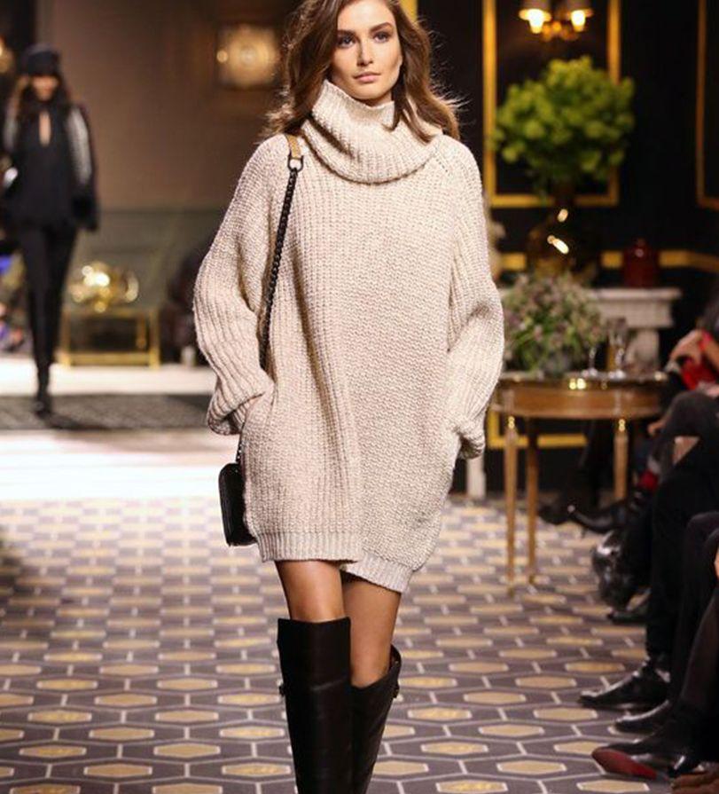 3de93bfd6777 Vestido de tricot: a peça chave do inverno   Inspiration mode ...