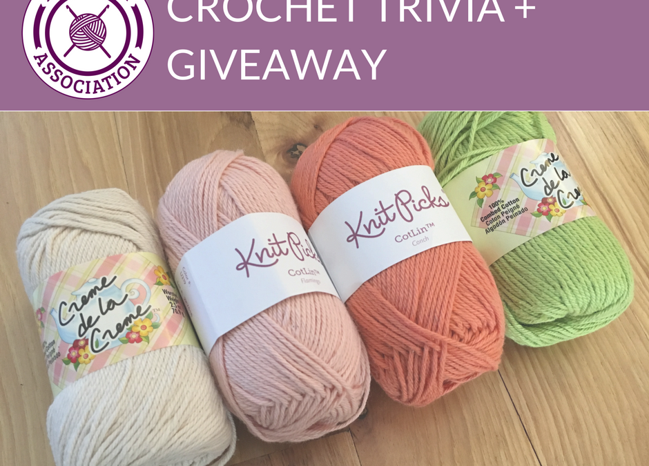 Crochet Trivia Giveaway 6 Yarn Substitution 4 Skeins Cotton
