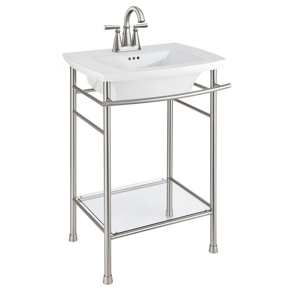 American Standard Edgemere 4 In Pedestal Sink Basin In White