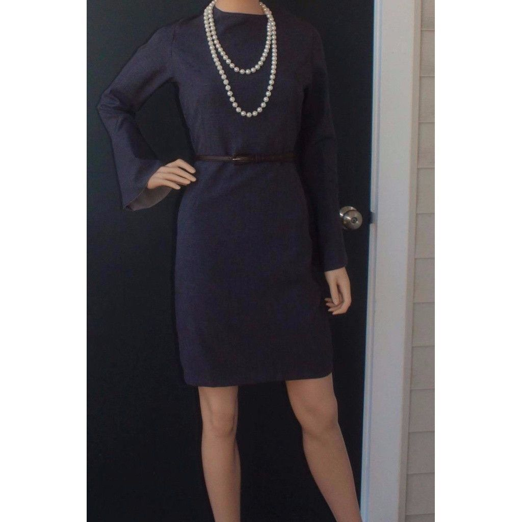 Buy dark grey flare sleeve fitted dress at tuet for only