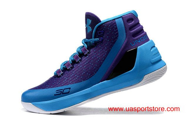 1b8dd7ecb807 Men s Under Armour Curry 3 Purple Jade-green UA Basketball Shoes For ...
