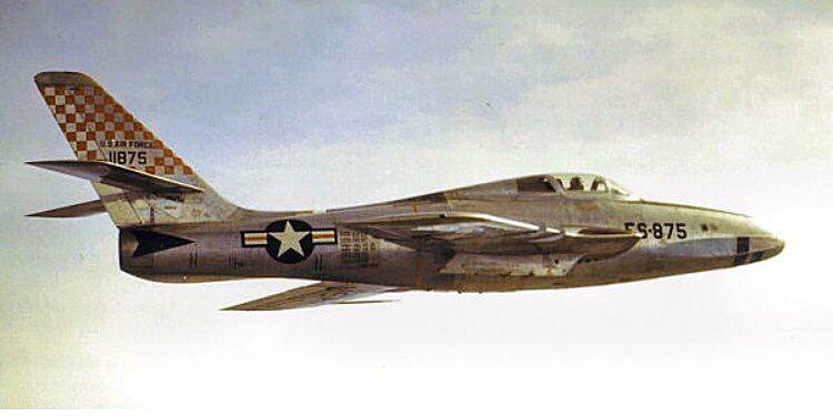 Republic RF-84F-10-RE Thunderflash of the 18th TRS, 363rd TRW.