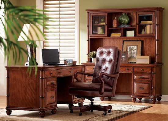 #Work In #style With This #havertys Antigua Home Office!