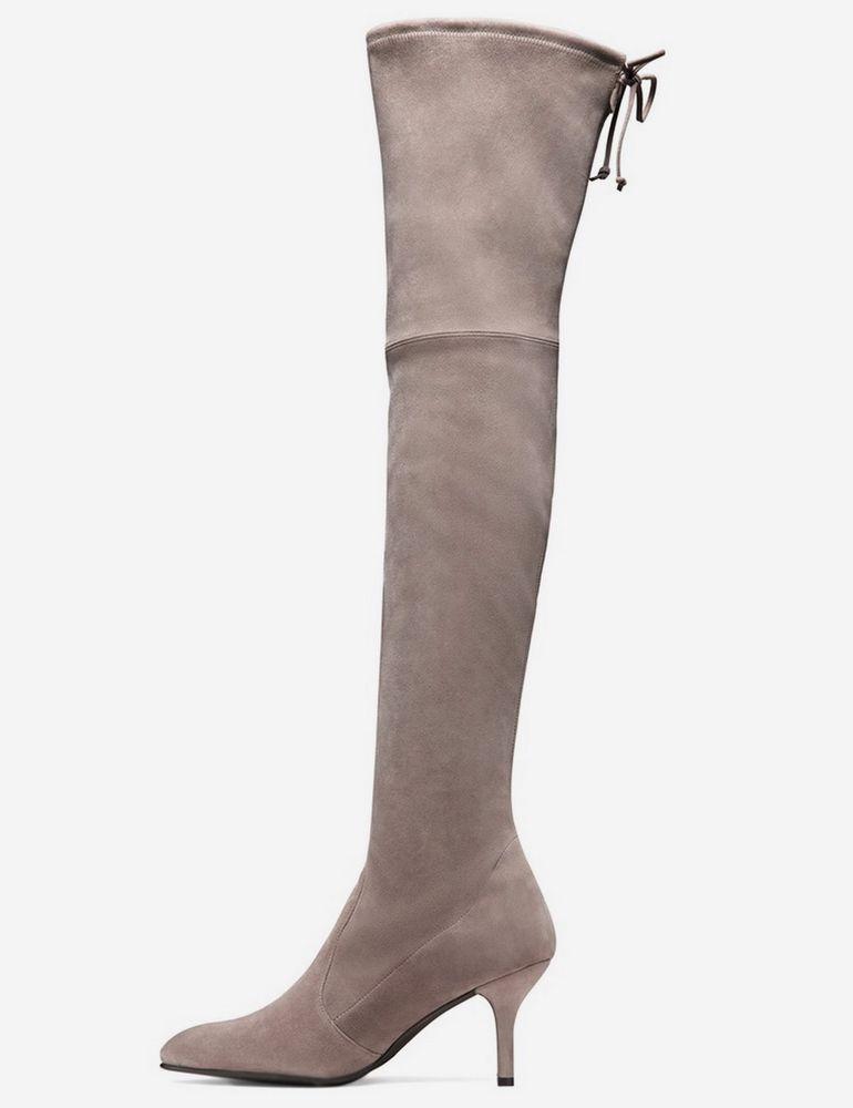 e7e6f274c0b New Stuart Weitzman TIEMODEL Suede Over the Knee Boots~Taupe Topo US 8   StuartWeitzman  OverKneeBoots  CasualDressOutdoorPartyWork