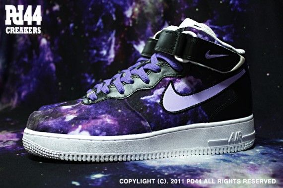 Custom Nike Air Force Ones | nike air force 1 mid galaxy