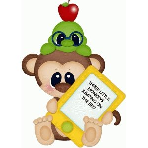 Silhouette Design Store: monkey & worm w tablet pnc