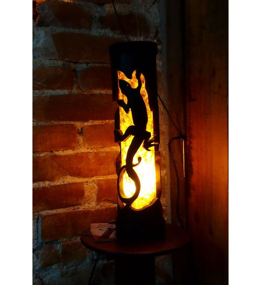 Great night lamps - This Unique Bamboo Lamp Lizard Is Handmade With A Passion And Great Attention To Details In Our Workshop From A Natural Fire Cured Bamboo Pole Nepali
