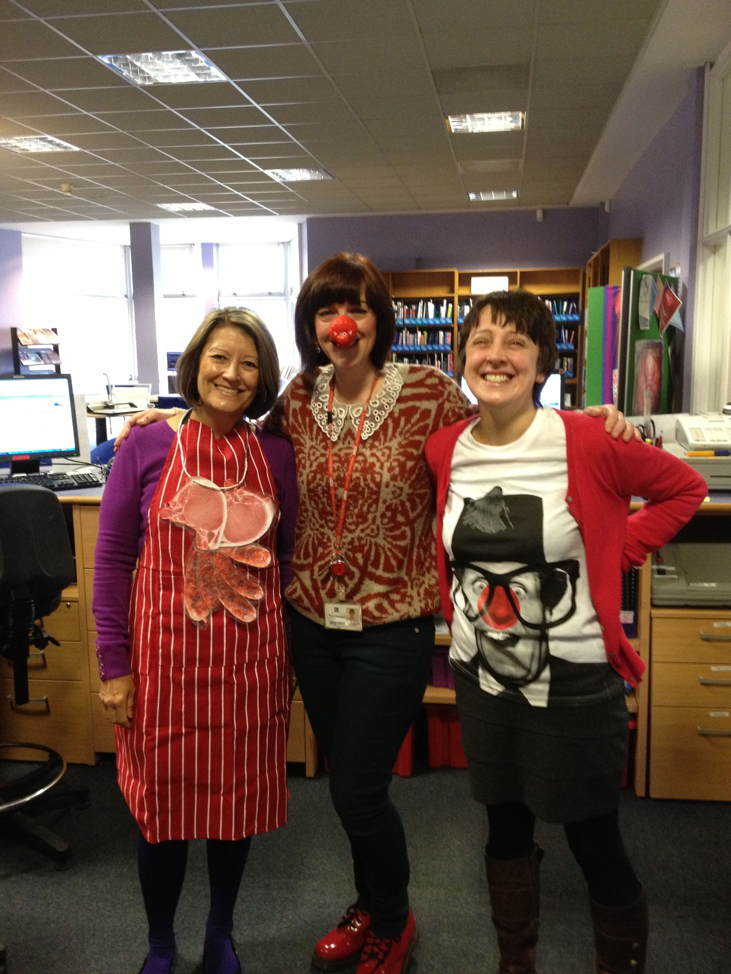 Red Nose day 2013 at The University Centre LRC